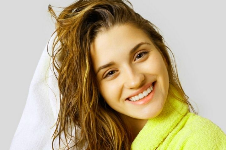 Can you dry your hair with the same towel as the body?